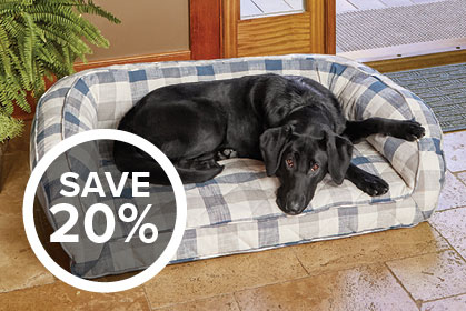 SAVE 20% - FIELD-TESTED MEANS WELL-RESTED Underneath the plush microfiber quilted cover of the Memory Foam Bolster Dog Bed is a thick memory foam cushion calibrated specifically for dogs. Shop Dog Beds