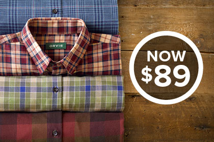 OUR BEST-SELLING BLEND - NOW $89 Soft and easy-wearing shirt, our special blend of 80% long-staple cotton and 20% merino wool results in a shirt you'll reach for all winter long. Shop Shirts