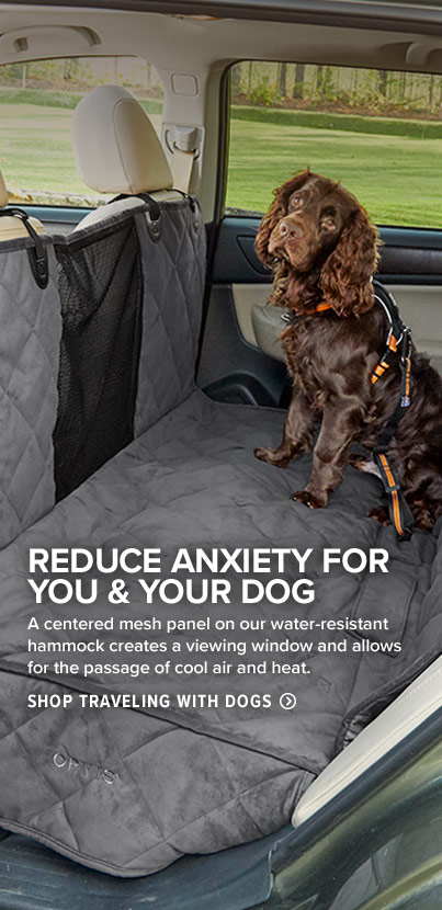 REDUCE ANXIETY FOR YOU & YOUR DOG - A centered mesh panel on our water-resistant hammock creates a viewing window and allows for the passage of cool air and heat.