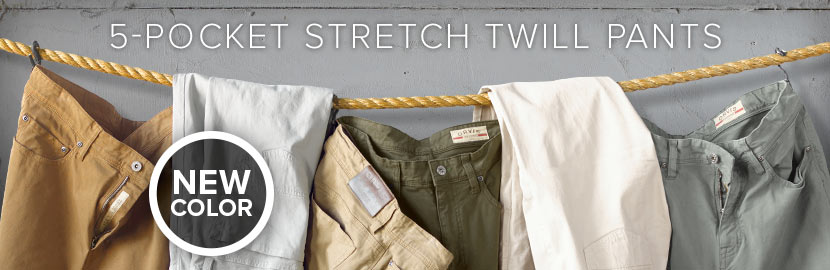 5 Pocket Stretch Twill - New Colors