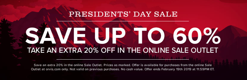 Presidents' Day Savings | Save up to 60% in the Online Sale Outlet