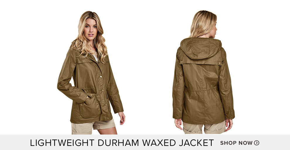 Lightweight Durham Waxed Jacket - Shop Now
