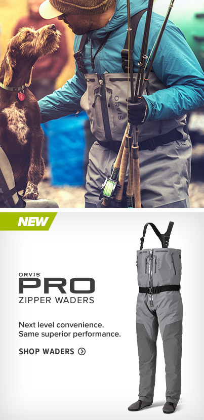 MEN'S PRO ZIPPER WADERS ZIP IT Next level convenience. Same superior performance. SHOP WADING GEAR