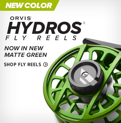 ORVIS HYDROS® - ENGINEERED FOR EVERYONE - NEW MATTE GREEN - SHOP FLY REELS