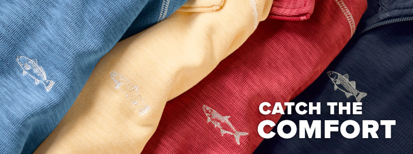 CATCH THE COMFORT An inspired blend of Pima cotton and sustainably sourced Tencel®, our soft quarter-zip is the perfect layering piece. Shop Sweatshirts and Fleece