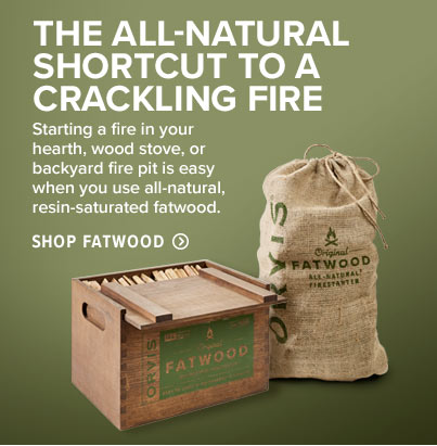 THE ALL-NATURAL SHORTCUT TO A CRACKLING FIRE - Starting a fire in your hearth, wood stove, or backyard fire pit is easy when you use all-natural, resin-saturated fatwood. 