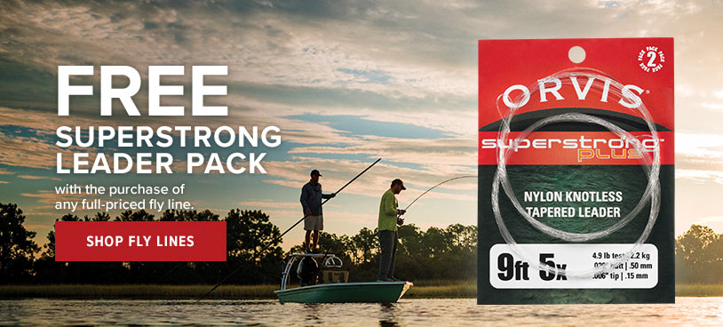 FREE Super Strong Leader Pack  with the purchase of any fly line Shop Fly Lines