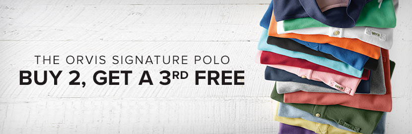 Long-Sleeved Signature Polo | Buy 2, Get a 3rd FREE!