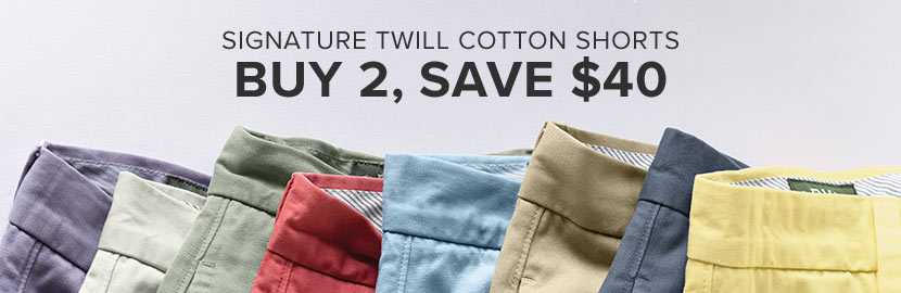 Signature Twill Shorts   Buy 2, Save $40!