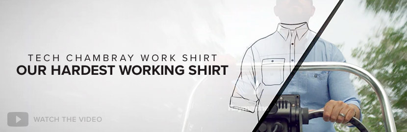 TECH CHAMBRAY WORK SHIRT - OUR HARDEST WORKING SHIRT Watch the Video
