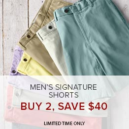 Men's Signature Shorts Buy 2, Save $40 | Limited Time Only