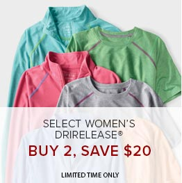 Select Women's Drirelease | Buy 2, Save $40 | Limited Time Only