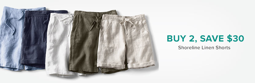 Women's Linen Shorts | Buy 2, Save $30