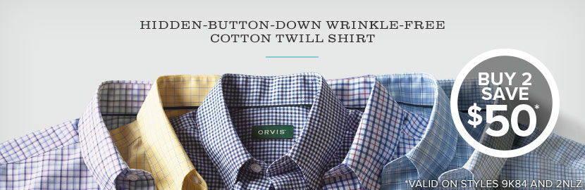 Buy 2 hidden button down long sleeved shirts!