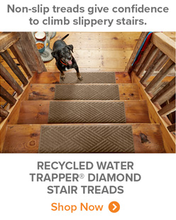 Non-slip treads give confidence to climb slippery stairs. | RECYCLED WATER TRAPPER® DIAMOND STAIR TREADS Shop Now