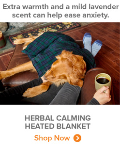 Extra warmth and a mild lavender scent can help ease anxiety. | HERBAL CALMING HEATED BLANKET Shop Now