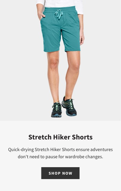 STRETCH HIKER SHORTS | SHOP NOW