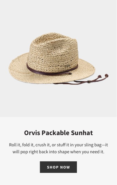 ORVIS PACKABLE SUN HAT | Block the sun on vacation or in your garden wearing our handwoven Orvis Packable Sun Hat.