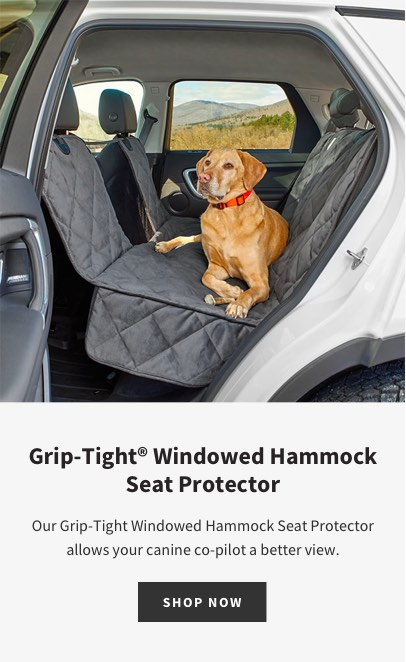 Grip-Tight® Windowed Hammock Seat Protector | Our Grip-Tight Windowed Hammock Seat Protector allows your canine co-pilot a better view.| SHOP NOW