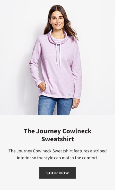 The Journey Cowlneck Sweatshirt | The Journey Cowlneck Sweatshirt features a striped interior so the style can match the comfort. | SHOP NOW