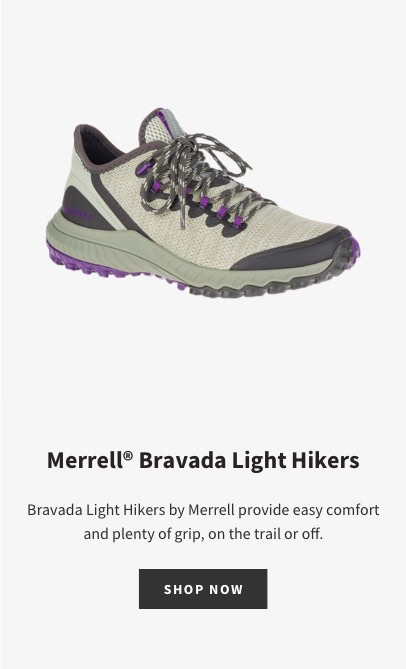 Merrell Bravada Light Hikers | Bravada Light Hikers by Merrell provide easy comfort and plenty of grip, on the trail or off. | SHOP NOW