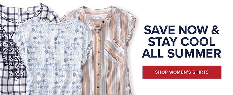 Save on Select Women's Shirts!