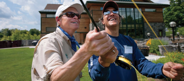 Return the favor and make lasting memories together at an Orvis Fly-Fishing School.