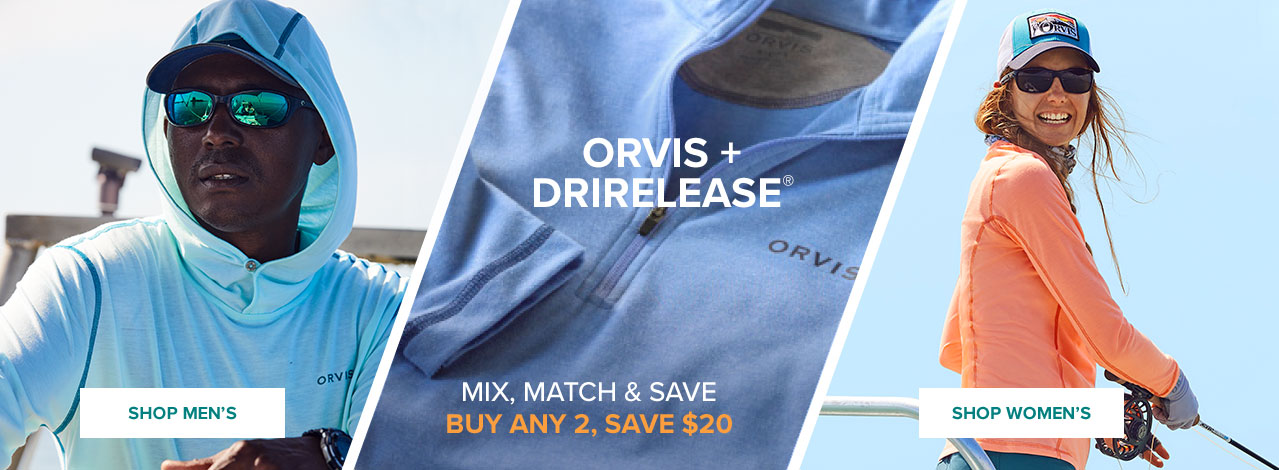 STAY FRESH TO DAY'S END - BUY ANY 2, SAVE $20 Fast-drying, moisture-wicking drirelease® with built-in OutSmart® Fresh odor protection feels as soft as cotton but dries four times faster. SHOP MEN | SHOP WOMEN