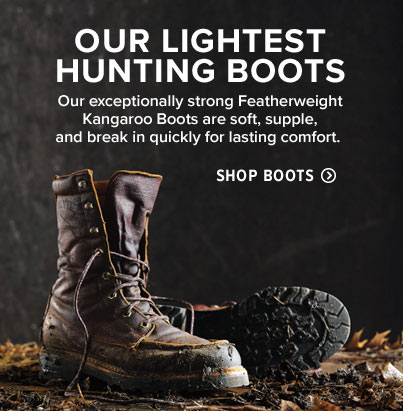 OUR LIGHTEST HUNTING BOOTS 