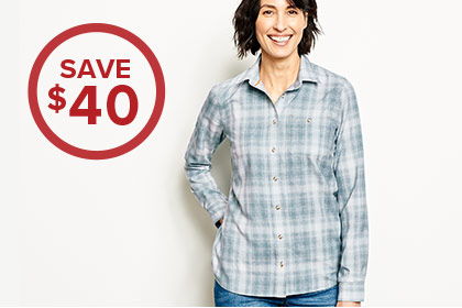 THE SHIRT THAT WORKS AS HARD AS YOU PLAY Whether you're tackling chores, matching the hatch, or hiking the hills, the Tech Chambray with UPF 30 handles it all. SAVE $40 Shop Women's Shirts