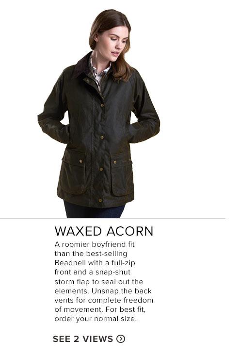 Waxed Acorn- See 2 Views