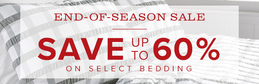 bedding end of season sale!