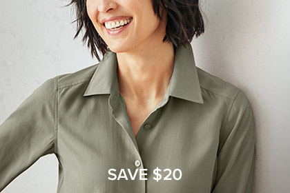 ALWAYS IN SEASON Made from wrinkle-resistant Fuji silk, our Everyday Silk Shirt breathes & wicks moisture for comfort any time of year. Shop Women's Shirts