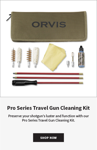 Pro Series Travel Gun Cleaning Kit Preserve your shotgun's luster and function with our Pro Series Travel Gun Cleaning Kit.  SHOP NOW