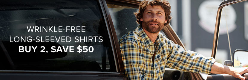 Wrinkle-Free Shirts | Buy 2, Save $50