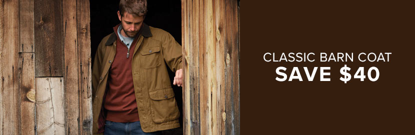 Save $40 on the Orvis Classic Barn Coat