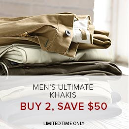 Men's Ultimate Khakis | Buy 2, Save $50 | Limited Time Only
