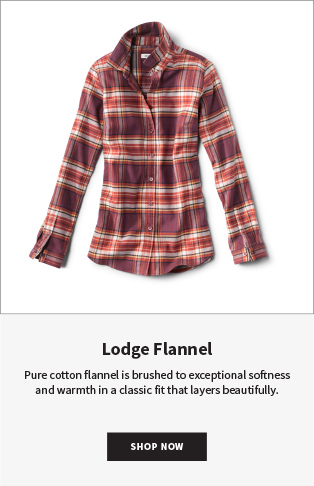 Lodge Flannel Pure cotton flannel is brushed to exceptional softness and warmth in a classic fit that layers beautifully. | Shop Now