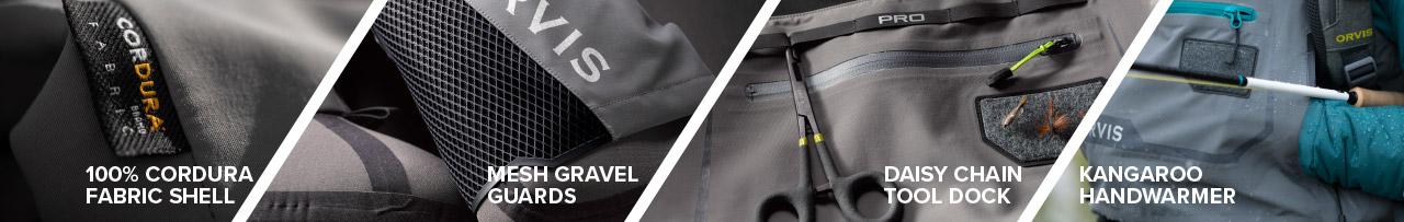 100% Cordura Fabric Shell | Mesh Gravel Guards | Daisy Chain Tool Dock | Kangaroo Handwarmer