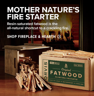 MOTHER NATURE'S FIRE STARTER Resin-saturated fatwood is the all-natural shortcut to a crackling fire. 