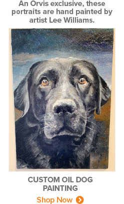 An Orvis exclusive, these portraits are hand painted by artist Lee Williams. | Custom Oil Dog Painting | Shop Now