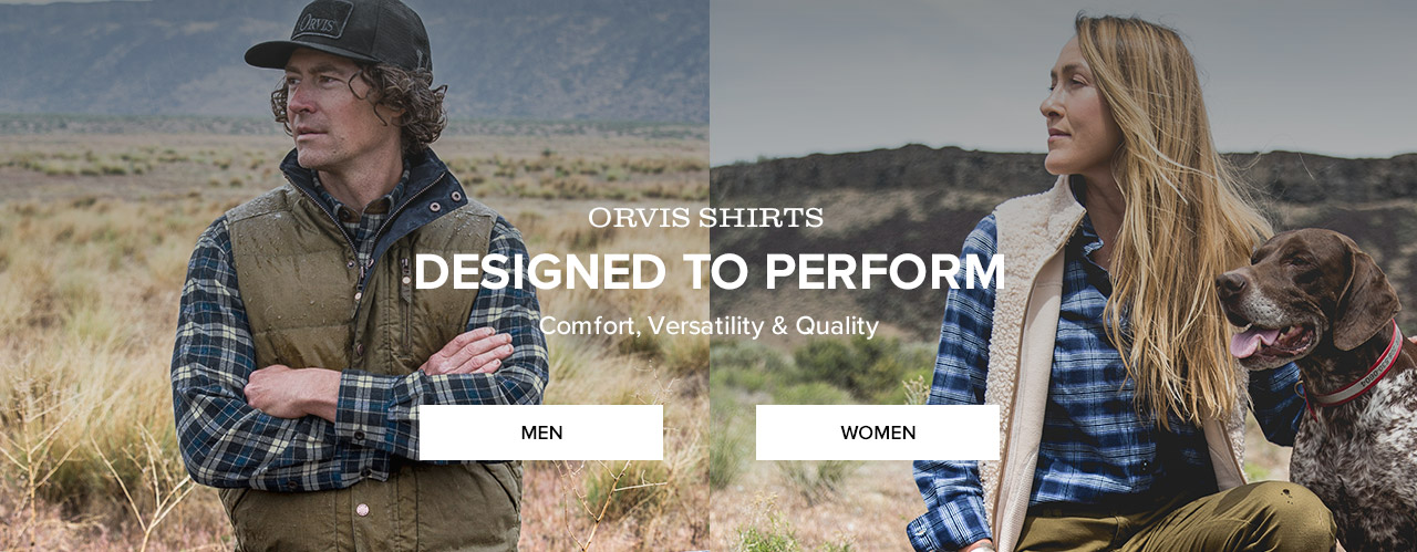 COMFORT, VERSATILITY & QUALITYORVIS SHIRTS—DESIGNED TO PERFORMMEN | WOMEN
