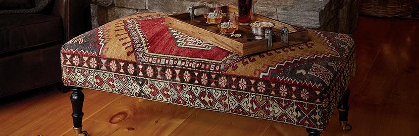Vintage Kilim Ottomans