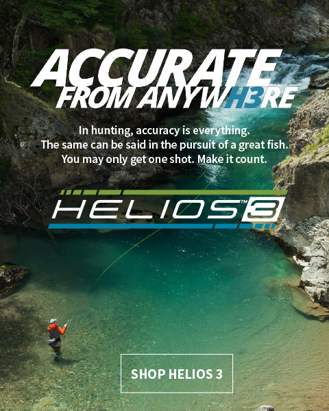 Accurate form Anywhere | in hunting, accuracy is everything. The same can be said in the pursuit of a great fish. YOu may only get one shot. Make it count. | Shop Helios 3