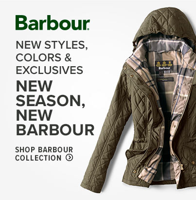 NEW SEASON, NEW BARBOUR. Get ready for fall and beyond with the latest Barbour styles, including exclusives you'll only find at Orvis. NEW STYLES, COLORS & EXCLUSIVES