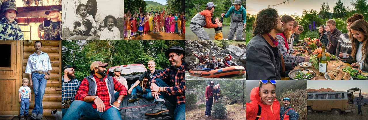 Collage of Orvis extended family.