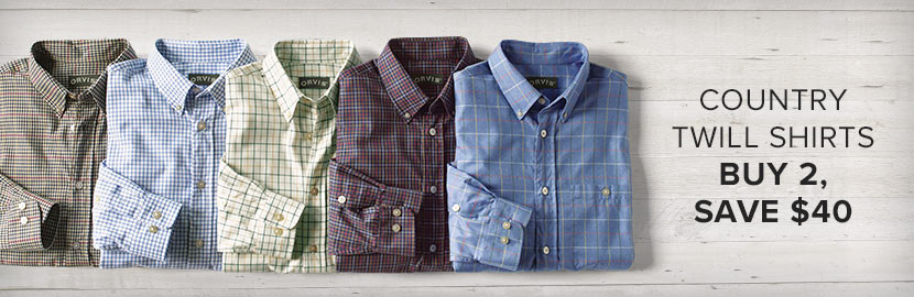 Country Twill Shirts | Buy 2, Save $40
