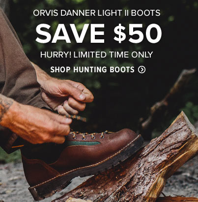 LACE UP A DANNER LIKE NO OTHER  Danner and Orvis have joined forces to develop a special Orvis version of the Light II, one of Danner's most popular boots.  Shop Hunting Boots