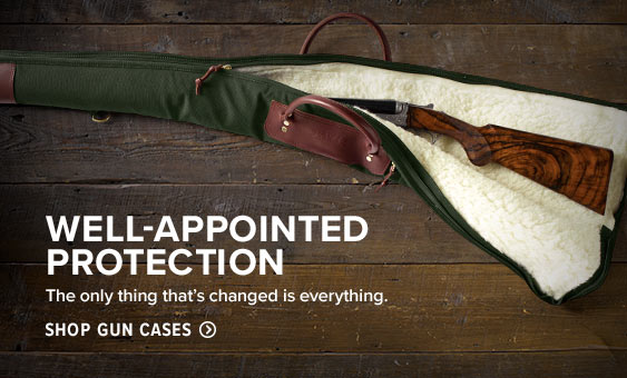 WELL-APPOINTED PROTECTION  Built from rugged canvas and leather, our Battenkill case cradles your shotgun securely whether on the road or in the home.  Shop Gun Cases
