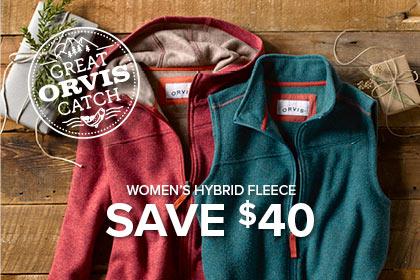 WOMEN'S HYBRID WOOL FLEECE SAVE $40